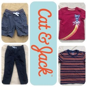 4 Cat & Jack Item Bundle Boys 2T